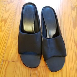Avon Black Slide Heel Sandals